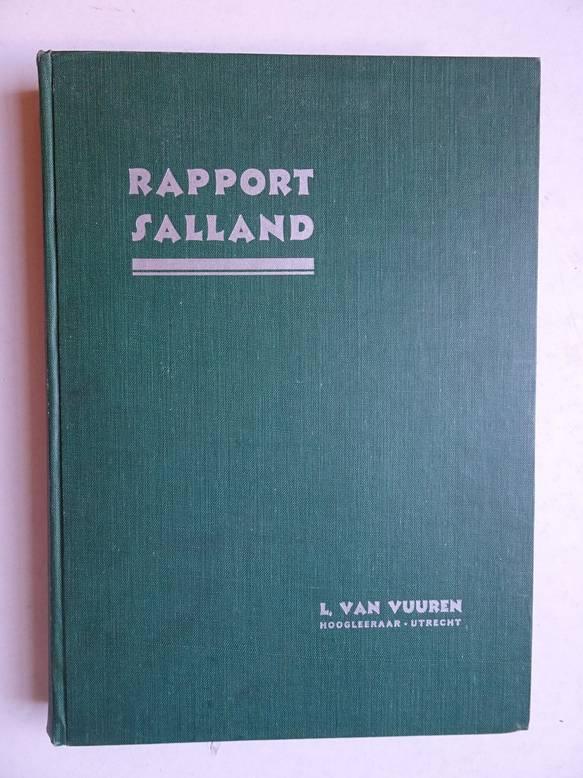 VUUREN, L. VAN. - Rapport betreffende een algemeen onderzoek naar de sociaal-economische structuur van het district der Kamer van Koophandel en Fabrieken voor Salland.