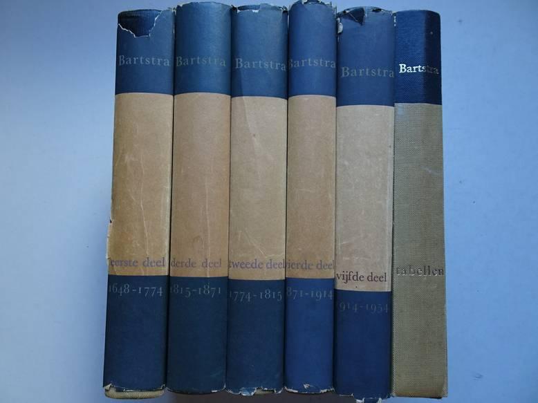 BARTSTRA, J.S.. - Handboek tot de staatkundige geschiedenis van de landen van onze beschavingskring van 1648 tot heden. I-VI.