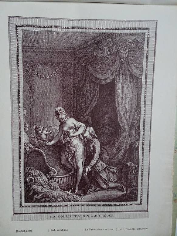 BAUDOUIN, BOILLY, BOUCHER A.O. (ED.). - Le Musee Galant du Dix-Huitième Siècle. Album. No. 1, 2, 4, 5, 6, 7, 10. Facsimilés d'estampes originales en noir et en couleur.