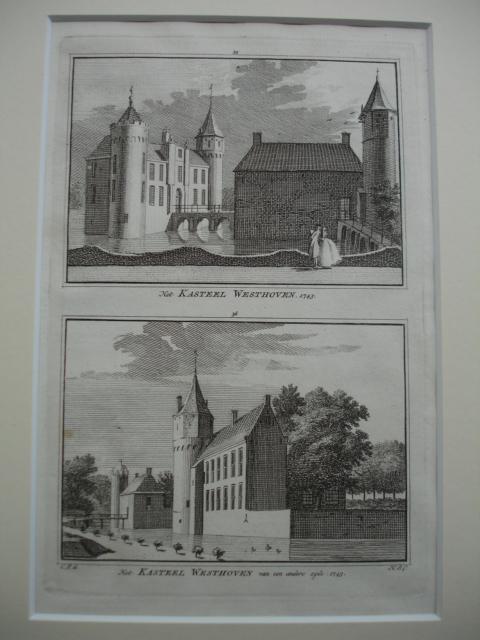 OOSTKAPELLE - WESTHOVEN. - Het Kasteel Westhoven. 1743 - Het Kasteel Westhoven van een andere zijde. 1743