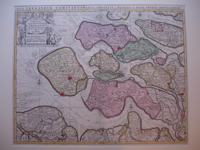 ZEELAND. - Zeelandia Comitatus. Nieuwe kaart van het Graafschap Zeeland opgemaakt uit de beste kaarten en van misslagen gezuiverd door R. en J. Ottens.