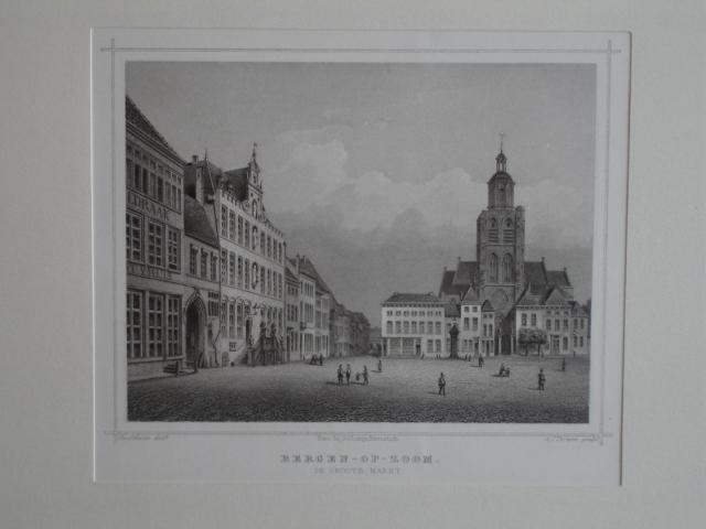 BERGEN OP ZOOM. - Bergen-Op-Zoom. De groote markt.