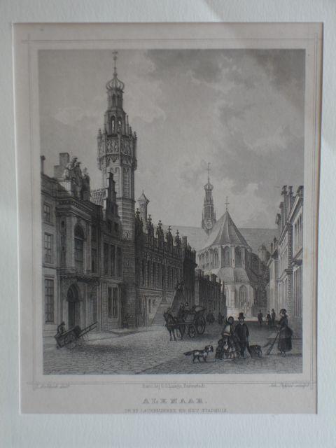 ALKMAAR. - Alkmaar. De St. Laurenskerk en het stadhuis.
