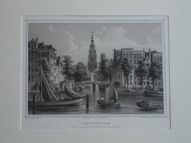 AMSTERDAM.. - Amsterdam. Gezigt van den Amstel op de Zuiderkerk.