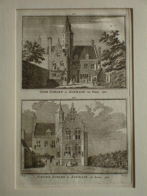 ALKMAAR. - Oude Doelen te Alkmaar van binnen. 1726. - Nieuwe Doelen te Alkmaar van binnen. 1726.