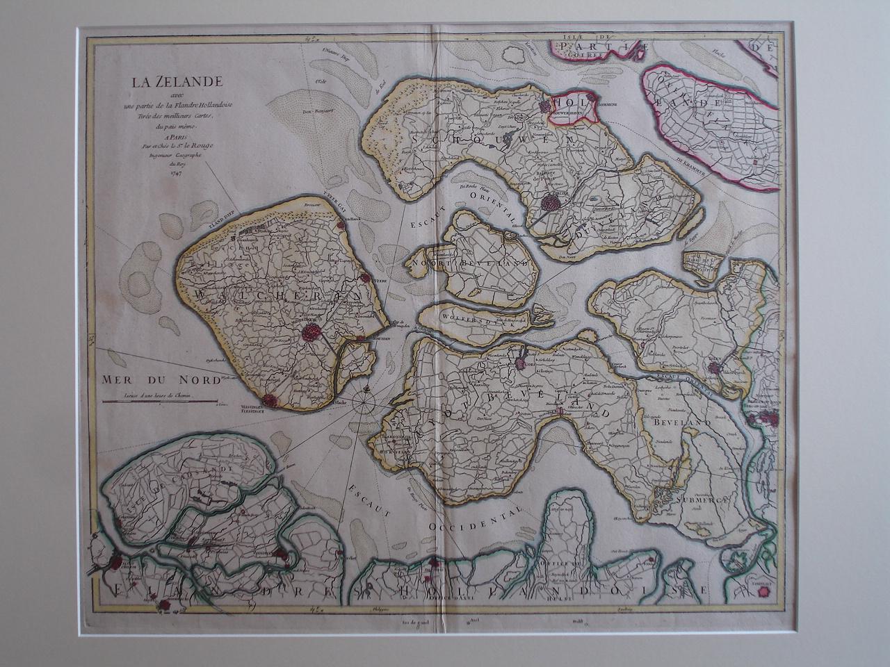 ZEELAND.. - La Zelande avec une partie de la Flandre Hollandoise tirée des meillieurs cartes dus païs même.