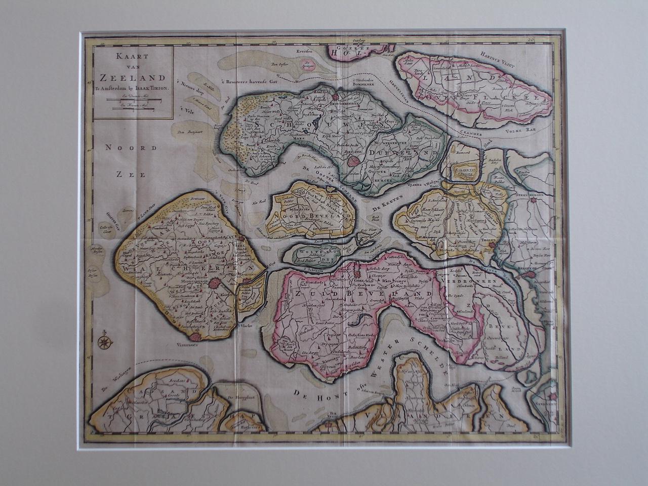 ZEELAND.. - Kaart van Zeeland.