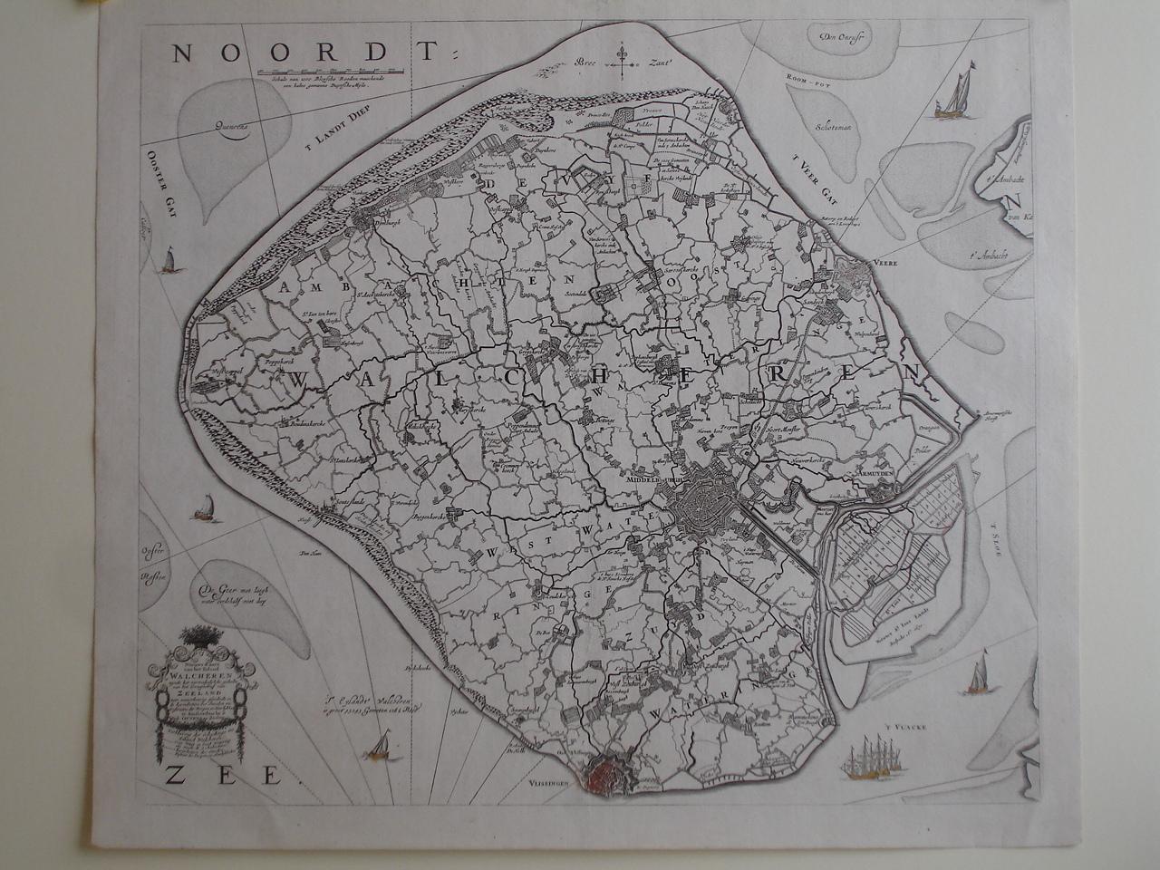 WALCHEREN. - Nieuwe kaart van het eiland Walcheren....