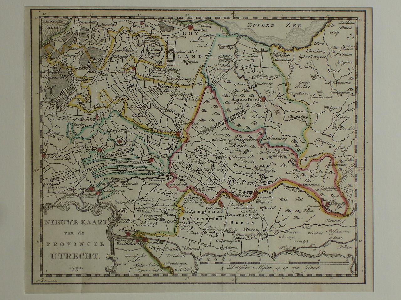 UTRECHT. - Nieuwe Kaart van de Provincie Utrecht.