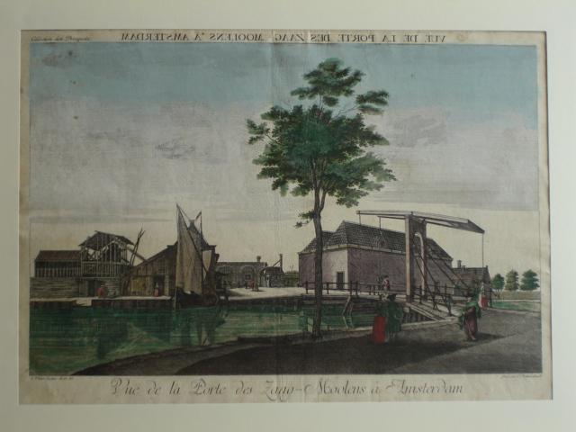 AMSTERDAM.. - Vuë de la Porte des Zaag-Moolens a Amsterdam.