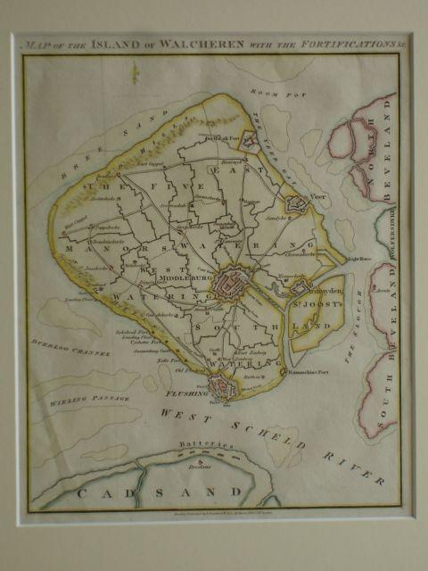 WALCHEREN. - Map of the Island of Walcheren with te Fortifications & C.