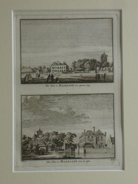 BAARLAND. - Het Huis te Baarland van agteren 1745. - Het Huis te Baarland van ter Zyde.