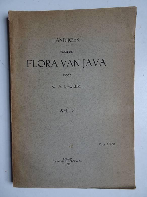 BACKER, C.A.. - Handboek voor de flora van Java, afl. 2.