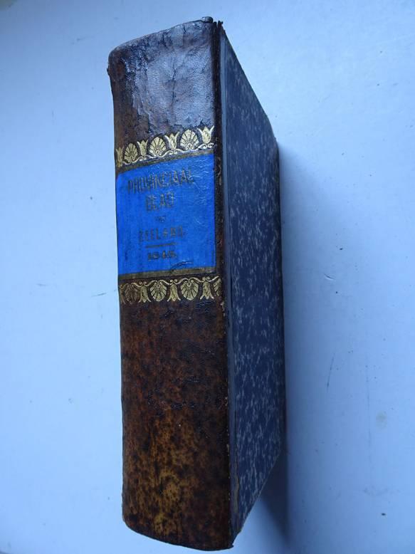 NO AUTHOR. - Provinciaal blad van Zeeland over het jaar 1845.