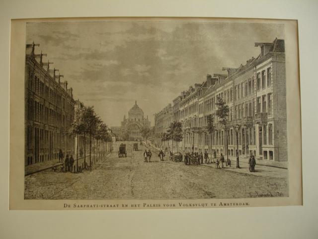 AMSTERDAM.. - De Sarphati-straat en het Paleis voor Volksvlijt te Amsterdam.