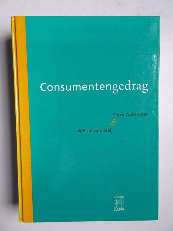 ANTONIDES, GERRIT & RAAIJ, W. FRED VAN. - Consumentengedrag; een sociaal-wetenschappelijke benadering.