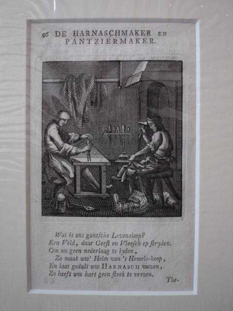 HANDICRAFT / AMBACHTEN. - De Harnaschmaker en Pantziermaker.