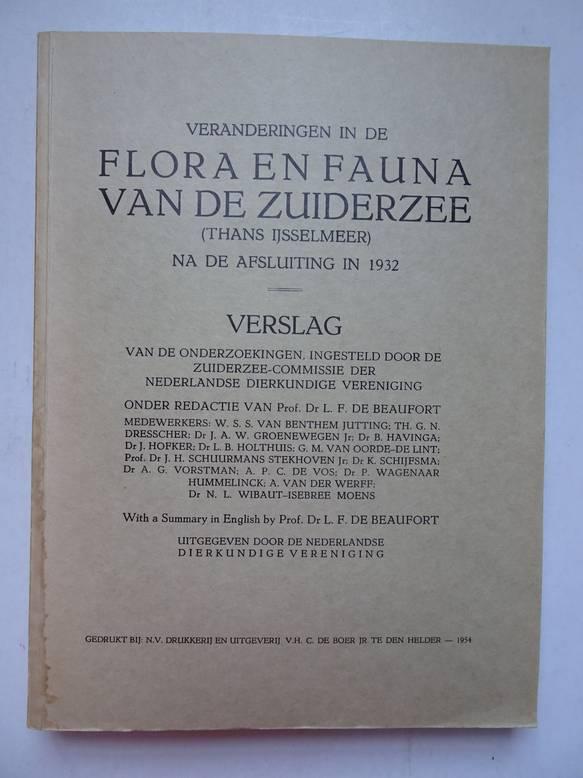 BEAUFORT, L.F. DE (RED.). - Veranderingen in de flora en fauna van de Zuiderzee (thans IJsselmeer), na de afsluiting in 1932.