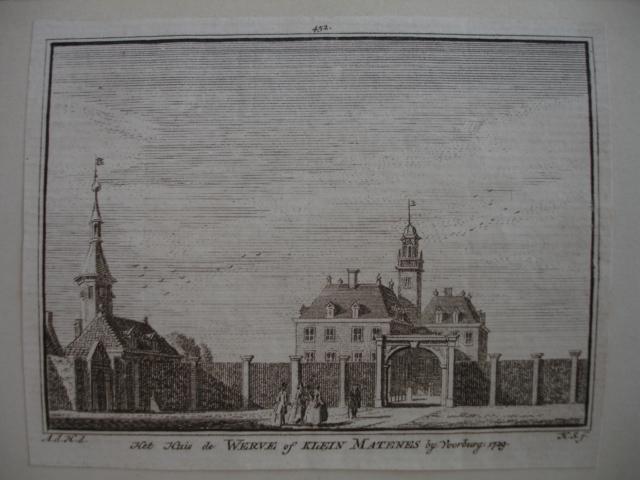 VOORBURG. - Het huis de Werve of Klein Matenes bij Voorburg.
