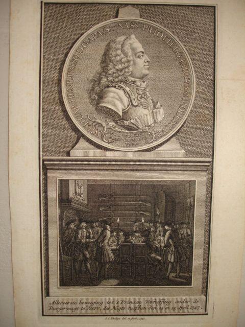 VEERE.. - Allereerste beweeging tot 's Prinsen Verheffing onder de Burgerwagt te Veere, des Nagts tusschen den 24 en 25 April 1747.
