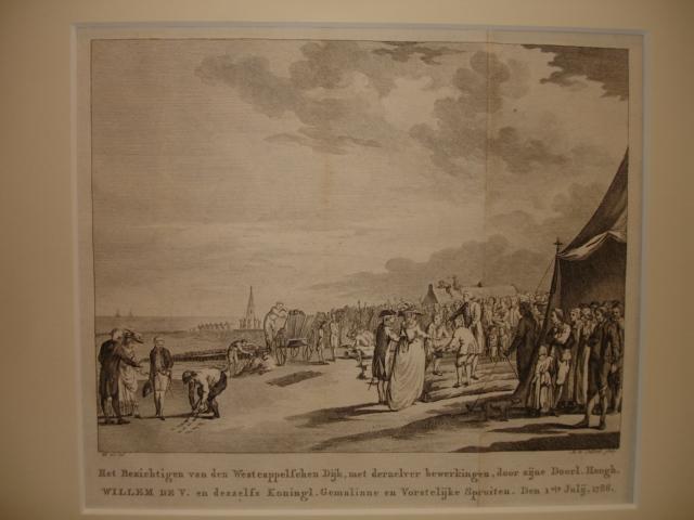 WESTKAPELLE. - Het Bezichtigen van den Westcappelschen Dijk, met der zelver bewerkingen, door zijne Doorl. Hoogh. Willem de V.... Den 1ste Julij, 1786.