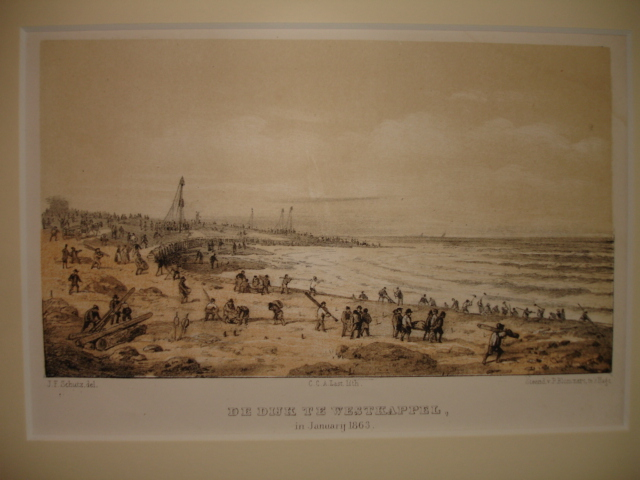 WESTKAPELLE. - De dijk te Westkappel in Januarij 1863.