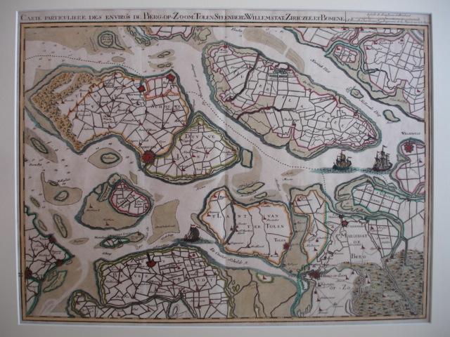 ZEELAND.. - Carte particuliere des environs de Berg-op-Zoom, Tolen, Steenberg, Willemstat, Ziericzee, et Bomene.