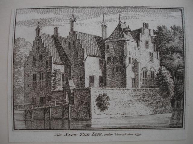 VOORSCHOTEN. - Het Slot ter Lips, 1739.
