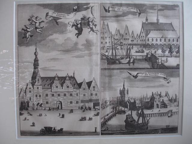ZIERIKZEE. - Het Raadhuys tot Ziericzee. Bree-brugge en Gasthuyskerk. Blokhuys en Duvelandsche poort.