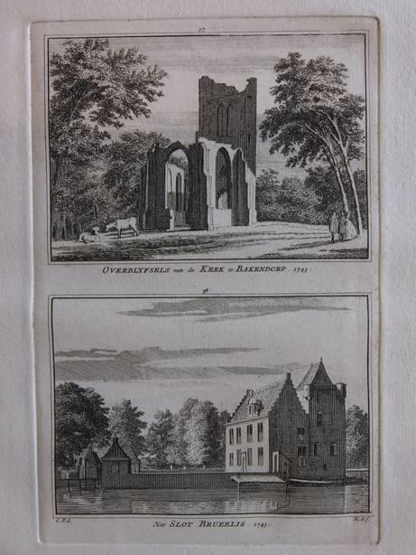 BAKENDORP. - Overblyfsels van de kerk te Bakendorp - Het slot Bruelis.