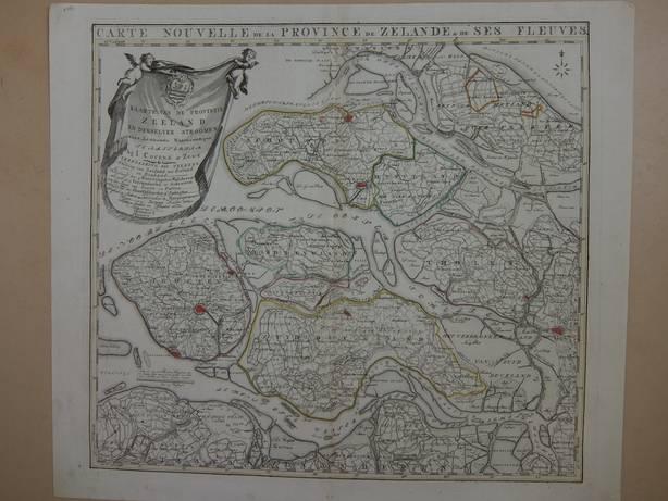 ZEELAND.. - Carte Nouvelle  de la Province de Zelande & de ses Fleuves.