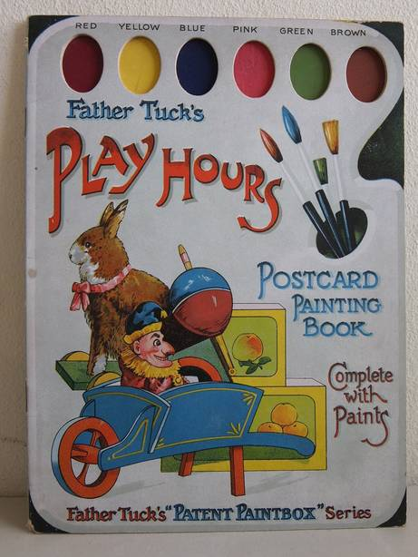 FATHER TUCK. - Father Tuck's play hours. Postcard painting book complete with paints. Father Tuck's