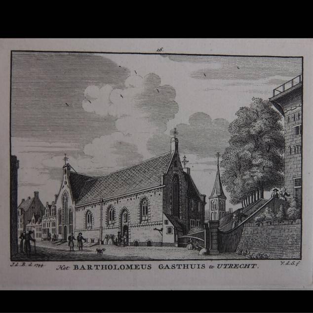UTRECHT. - Het Bartholomeus Gasthuis te Utrecht.