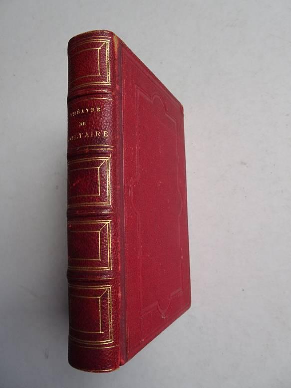 VOLTAIRE. - Théatre de Voltaire. Nouvelle édition ornée de portraits en pied coloriés.