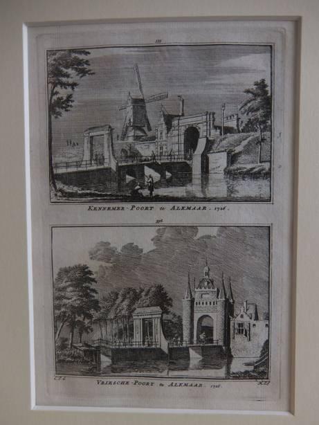 ALKMAAR. - Kennemer-Poort te Alkmaar, 1726/ Vriesche-Poort te Alkmaar, 1726.