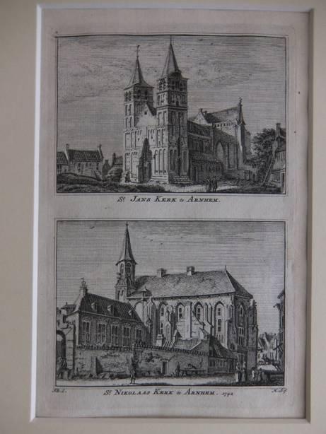 ARNHEM. - St. Jans Kerk te Arnhem/ St. Nikolaas Kerk te Arnhem, 1742.