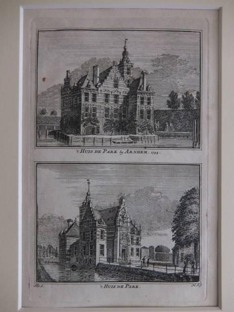 ARNHEM. - 't Huis de Park by Arnhem, 1744/ 't Huis de Park.