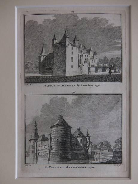 BATENBURG. - 't Huis te Hernen by Batenburg, 1732/ 't Kasteel Batenburg, 1742.