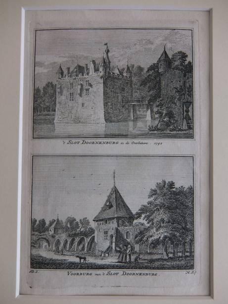 DOORNENBURG. - 't Slot Doornenburg in de Overbetuwe, 1742/ Voorburg van 't Slot Doornenburg.