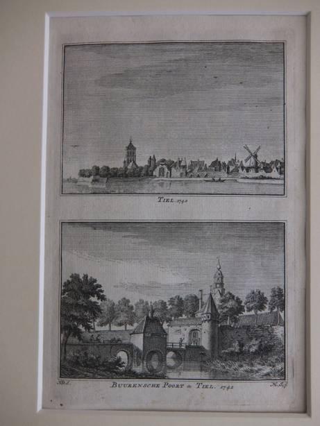TIEL. - Tiel, 1742/ Buurensche Poort te Tiel, 1742.