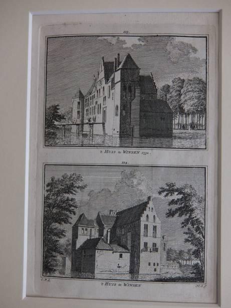 WINSEN. - 't Huis te Winsen, 1732/ 't Huis te Winsen.