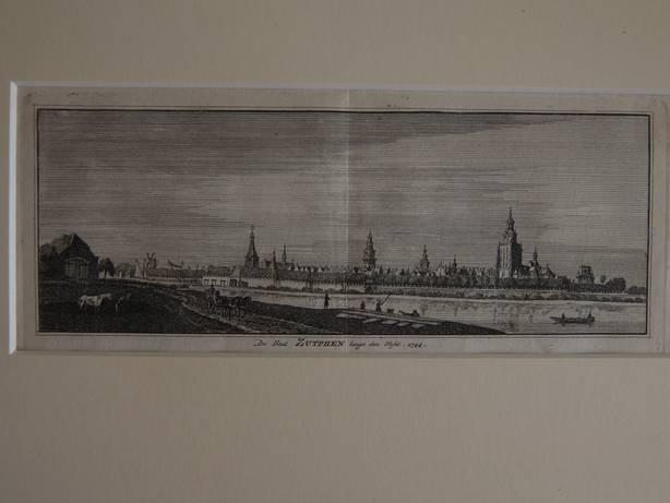 ZUTPHEN. - De Stad Zutphen langs den IJssel, 1744.
