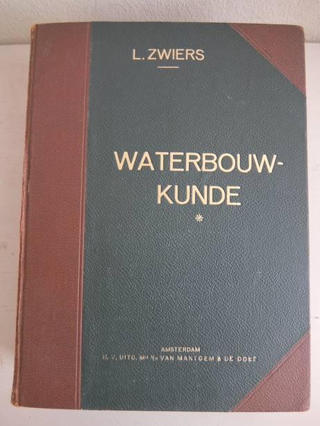 ZWIERS, L. - Waterbouwkunde. Delen 1,2,3 en 5. Dl. 1: Beschoeiingen, bekleedingsmuren en vaste bruggen voor gewoon verkeer, bewerkt door A.N. Wind. Dl. 2: Sluizen, bew. door L. Zwiers en F. Wind. Dl. 3: Beweegbare burggen voor gewoon verkeer, bew. door J.H.E. Rückert. Dl. 5: Kanalen, rivieren en rivierwerken, zeeweringen en zeehavens, bew. door J.R. Altink.