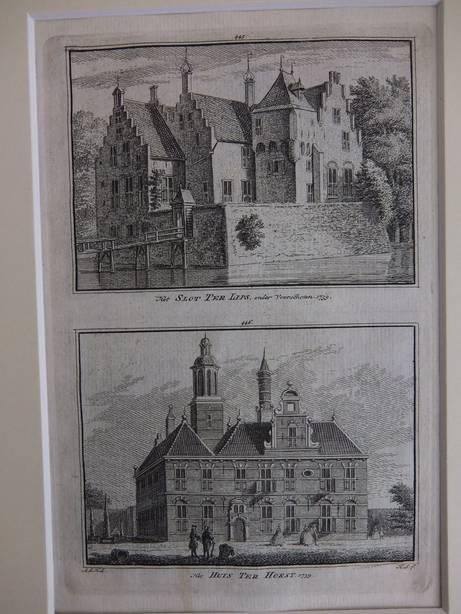 VOORSCHOTEN. - Het Slot Ter Lips, onder Voorschoten, 1739/ Het Huis Ter Horst, 1739.