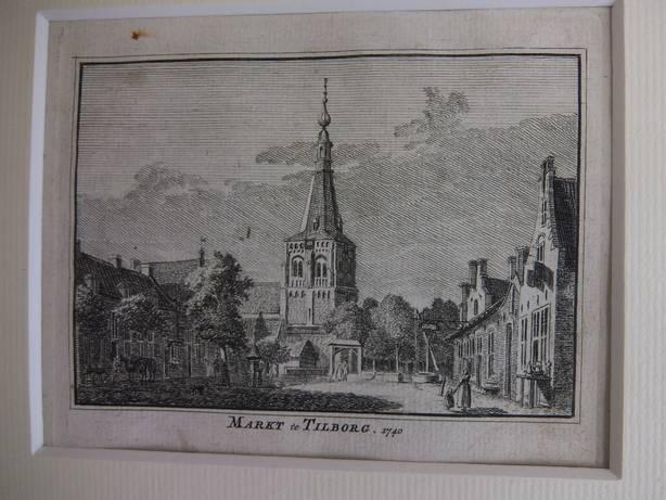 TILBURG. - Markt te Tilborg, 1740.