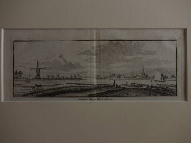AMEIDE. - Ameide, langs de Lek te zien, 1750.