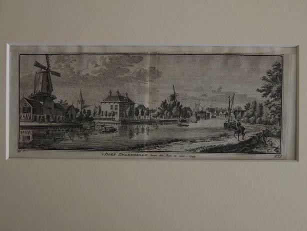 ZWAMMERDAM. - 't Dorp Zwammerdam langs den Rijn te zien, 1749.