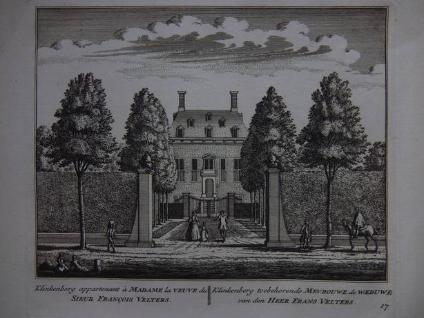 WARMOND. - Klinkenberg appartenant à Madame la veuve du Sieur François Velters/ Klinkenberg toebehorende Mevrouwe de weduwe van den Heer Frans Velters.