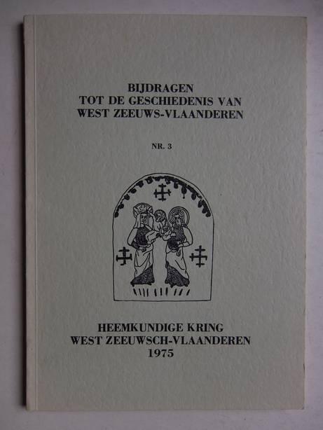 VIJVER, H.A.M. VAN DE. - Bijdragen tot de geschiedenis van West Zeeuws-Vlaanderen. Nr. 3: de hofsteden van Hoofdplaat en de Braakman.