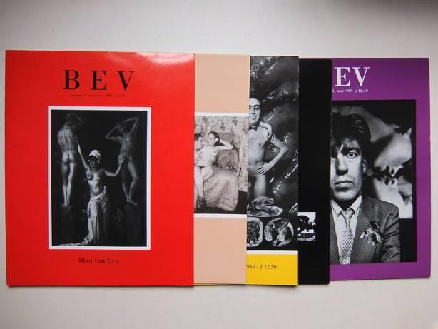 GEEFKENS, LEONIE (RED.). - BEV. Blad van Eva. 5 nummers. Jaargang 1, nummer 1 (1988) en Jaargang 1, nummers 2, 3, 4 en 5 (1989).